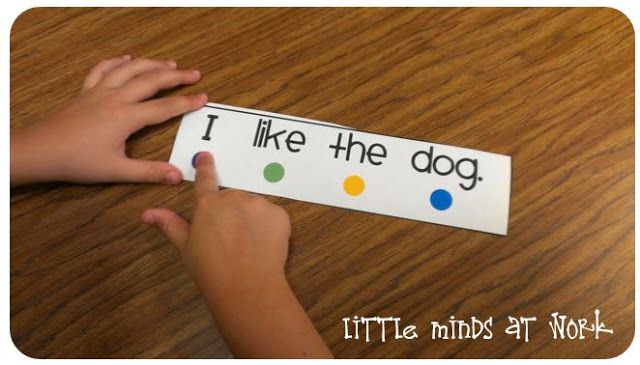 One to one correspondence in reading...Little Minds at Work: Kindergarten Guided Reading/Daily 5 Block! All in one post!