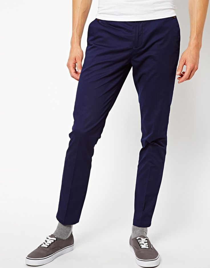 $28, Chinos by Selected. Sold by Asos. Click for more info: http://lookastic.com/men/shop_items/139125/redirect