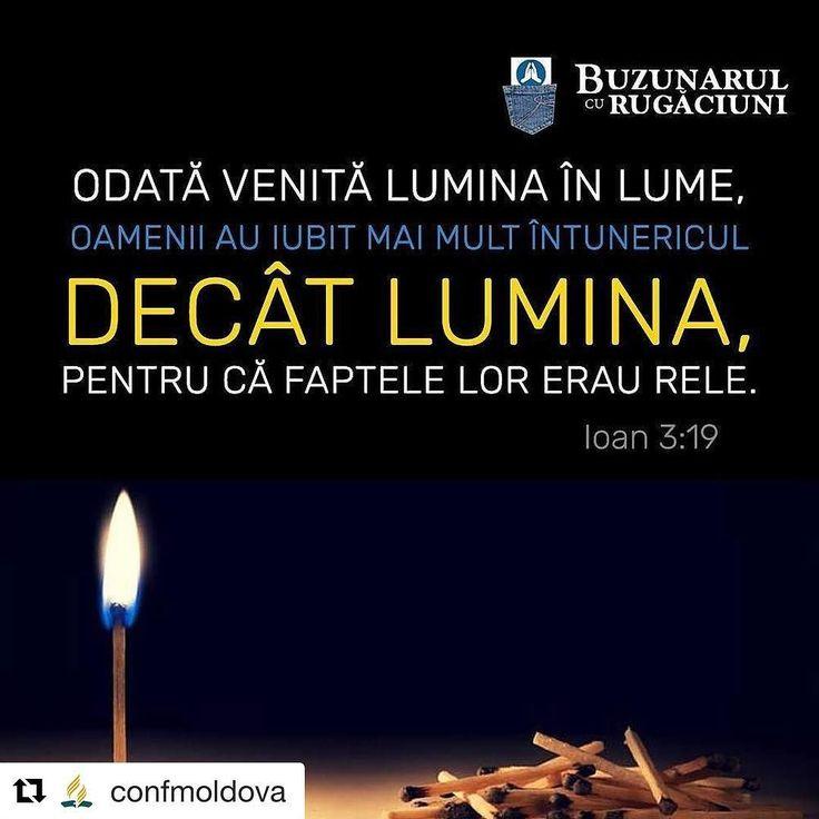 Odată venită Lumina în lume oamenii au iubit mai mult întunericul decât lumina pentru că faptele lor erau rele. Ioan 3:19 #sda #church #adventist #romania #biblia #lumina