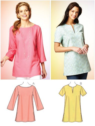 Kwik Sew 3870 from Kwik Sew patterns is a Misses' Tunic sewing pattern