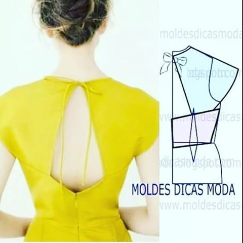This blog always has cute hack ideas. Love this back detail #sewinginspo #dressmaker #sewingblogger