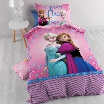 Bettwäsche Frozen Eiskönigin Rosa 140 x 200 aus Großhandel und Import