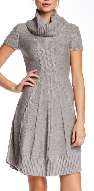flare sweater dress