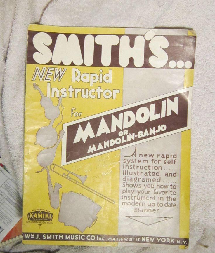 Smith's NEW Rapid Instructor for Mandolin or Mandolin-Banjo (ebay auction)