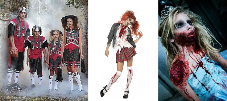 Zombie Cheerleader, Zombie Schoolgirl And Zombie Prom Queen