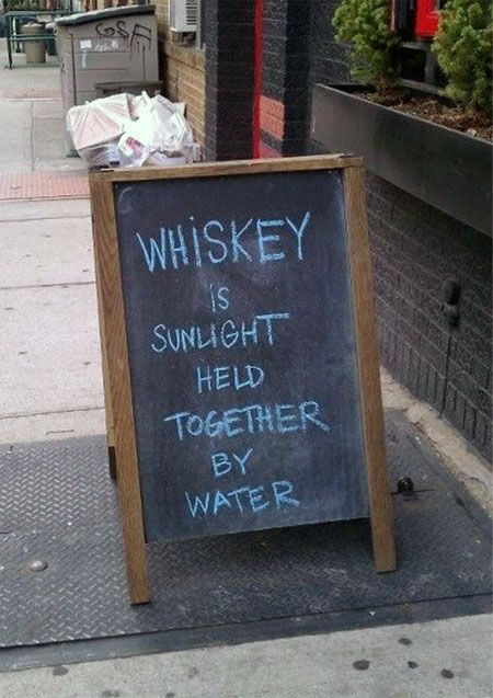 Whiskey is like...