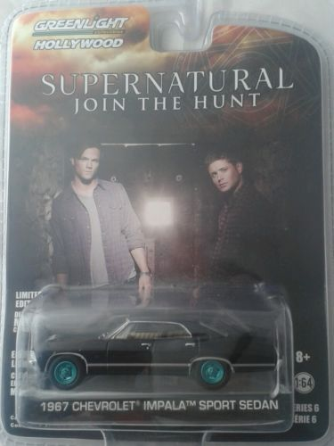 Greenlight-Hollywood-series-6-die-cast-car-Supernatural-green-machine-chase-rare