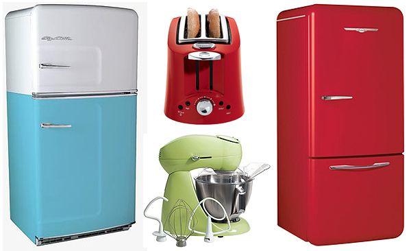 Retro Kitchen Appliances. Fab colours.