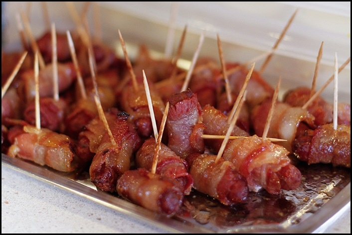 Bacon wrapped little smokies | Recipes | Pinterest