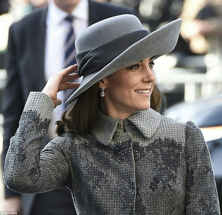 Last week the Duchess of Cambridge stepped out in a red and white check ensemble that was a little more daring than her usual neutral tones. But she was back in familiar territory today as she arrived at Westminster Abbey for the annual Commonwealth service