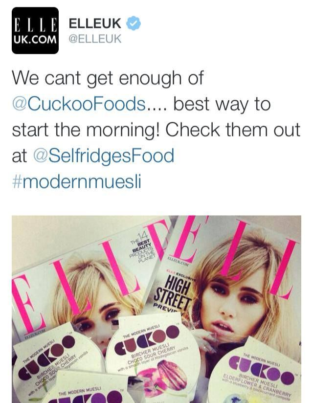 What a great way to start the day! We fed the Elle team Cuckoo for breakfast