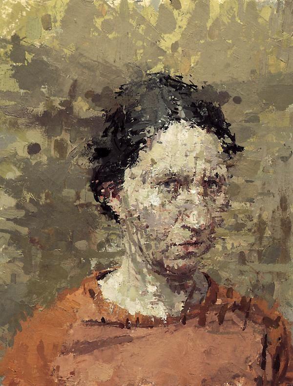 Ann Gale,  Self Portrait with Orange Shirt