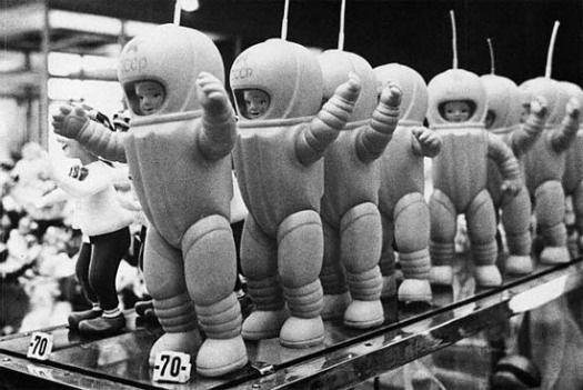 """ Cheap plastic cosmonauts for children""   Soviet toy ,  1967"