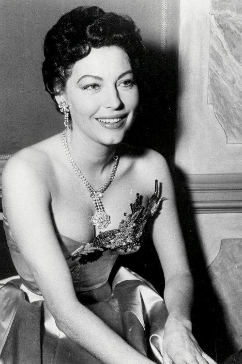 Candid of Ava Gardner, 1954.