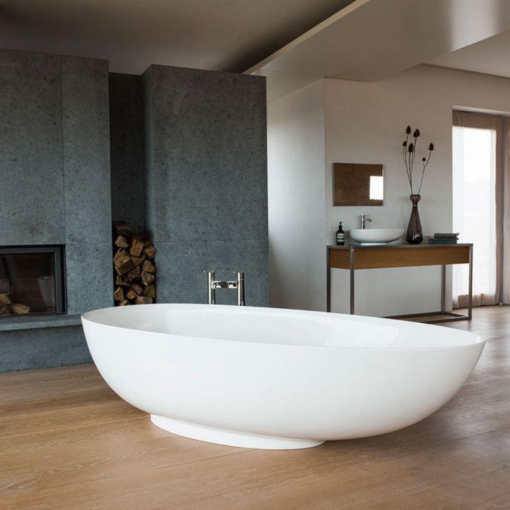 Clearwater Teardrop Grande ClearStone Freestanding Bath