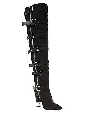4673d8d11e Giuseppe Zanotti Crudela Suede Over-The-Knee Buckle Boots $2375 ...