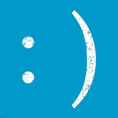 Blue Smiley Fine-Art Print by Veruca Salt at UrbanLoftArt.com