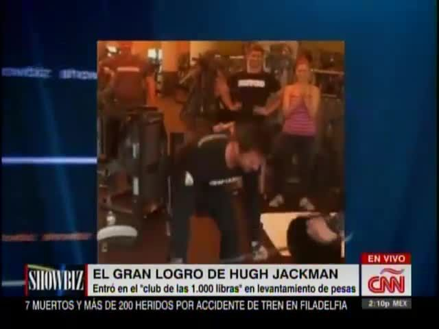 "Hugh Jackman Se Une Al ""Club De Las 1,000 Libras"" Del Levantamiento De Pesas #Video"