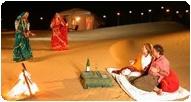 Noite perfeita no Deserto do Rajastão