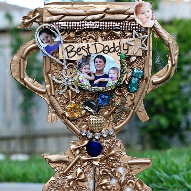 fathers day craft medal
