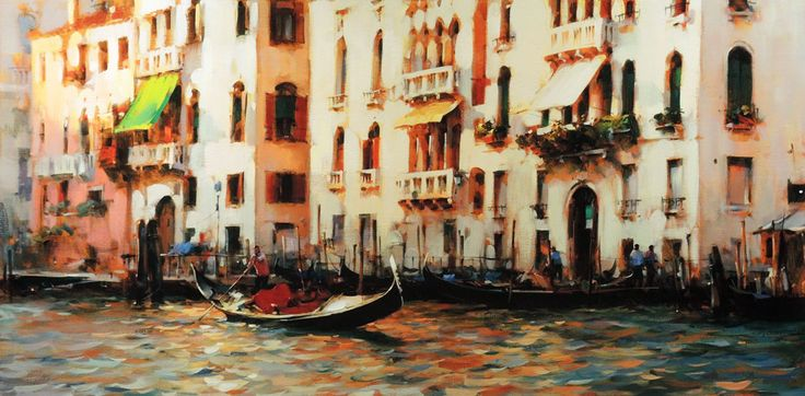 Dmitri Danish - Sunny Venice. For more information about the Danish collection, please visit our website siennafineart.com or call 305.600.4484