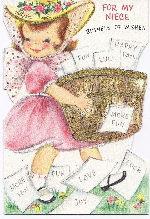M35 Vintage Used Birthday For Niece Greeting Card By Jarysstuff 300
