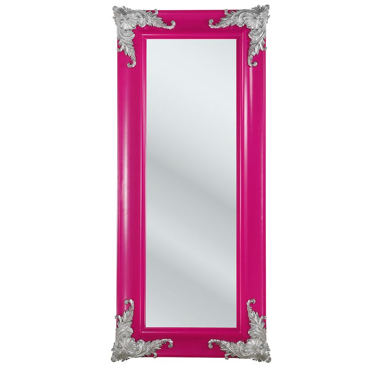 Deep pink full length mirror to be mounted on the back of your room's door or on the closet or a place like that.  Stylish!