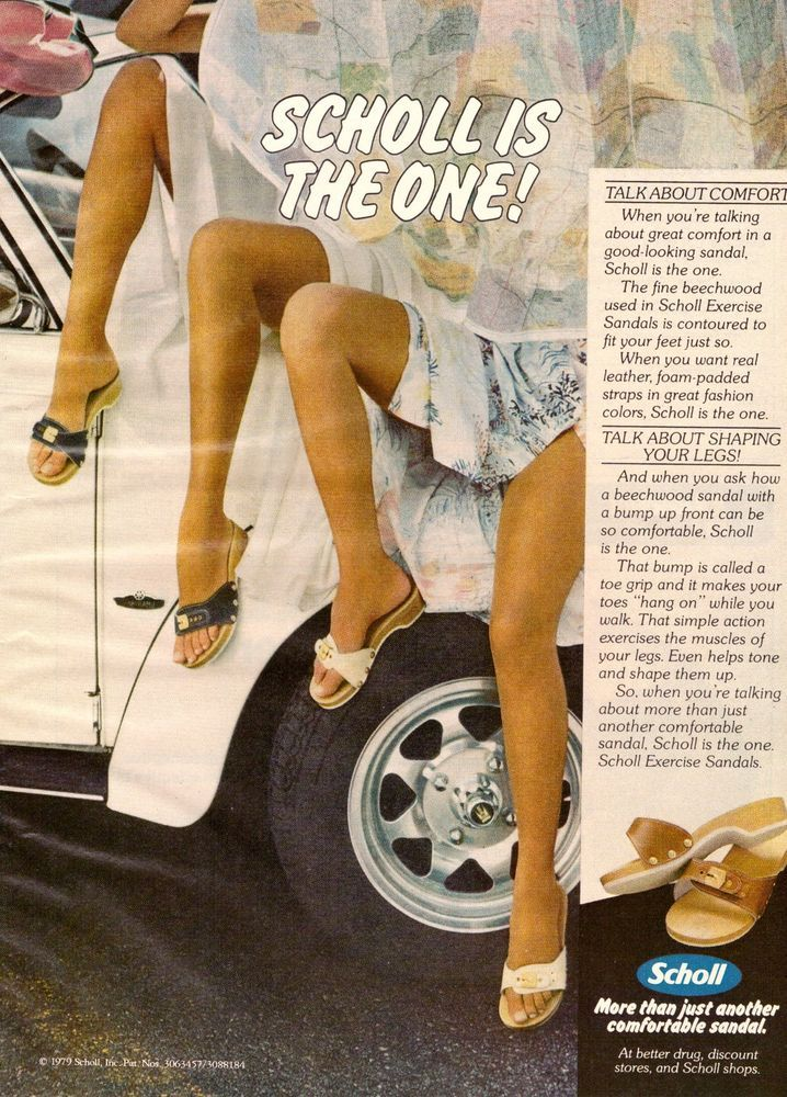 cf95ca6f145f 1979 Dr. Scholl s Sandals Shoes Print Ad Vintage Advertisement VTG 70s