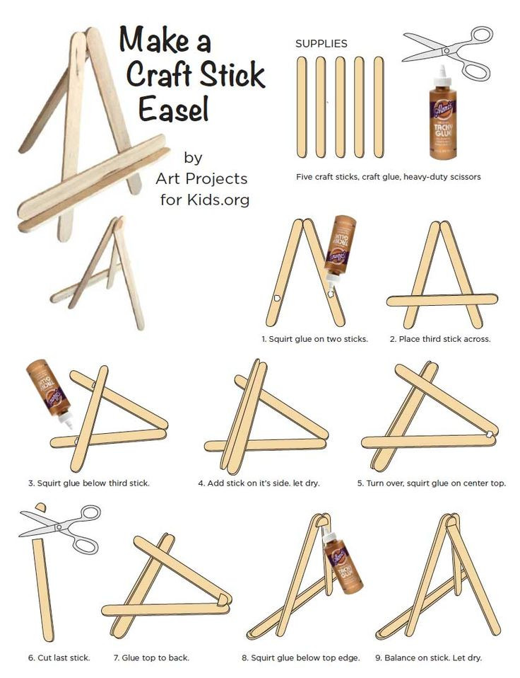 Make your own craft stick easel, no need to buy the expensive pre-made ones. I've been making these for so long for my mini canvas classes.