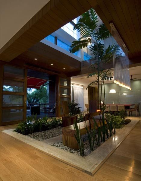 60 best interior landscaping design images on pinterest for Residential atrium