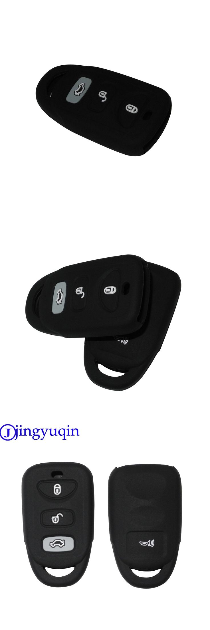 jingyuqin Remote Silicone Cover For HYUNDAI KIA Tuscon Elantra Rio Sportage Rondo Accent Smart Remote 4 Buttons Key Case Fob 4B