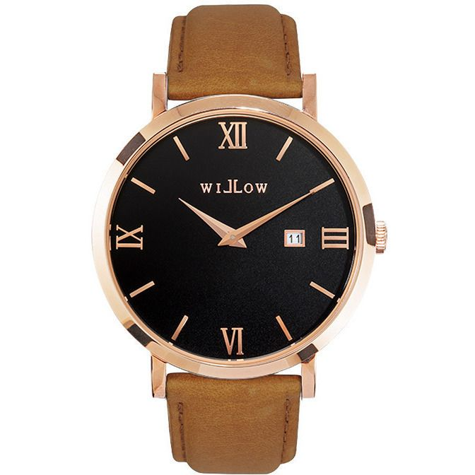 Willow Roma Watch in Rose Gold w/ Tan Leather Strap | Buy Women's Watches
