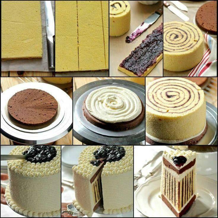 Strips cake