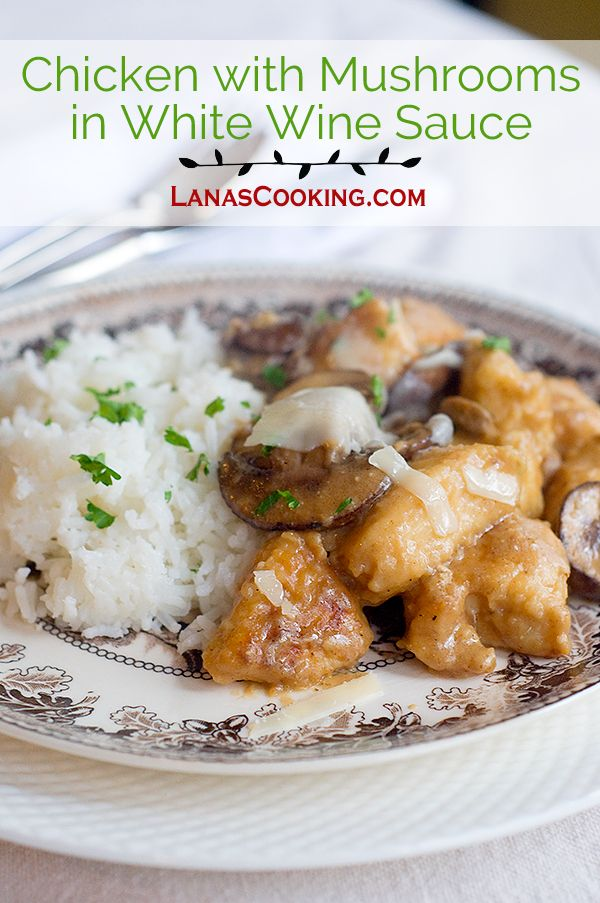Check out Chicken with Mushrooms in White Wine Sauce. It's ...