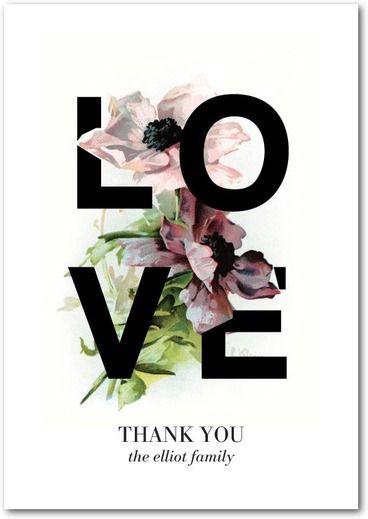 Remerciement - Fleur - Love
