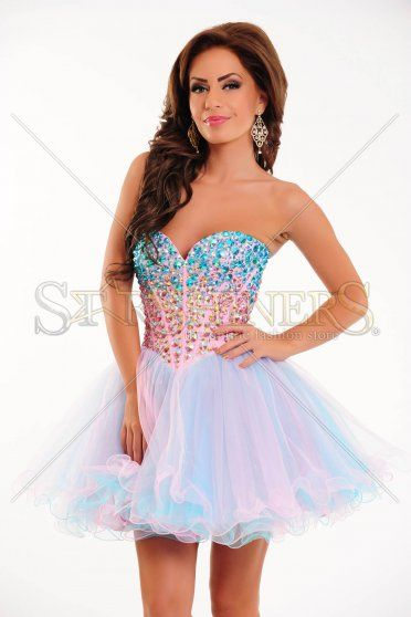 Sherri Hill Luxurious Life Aqua Dress
