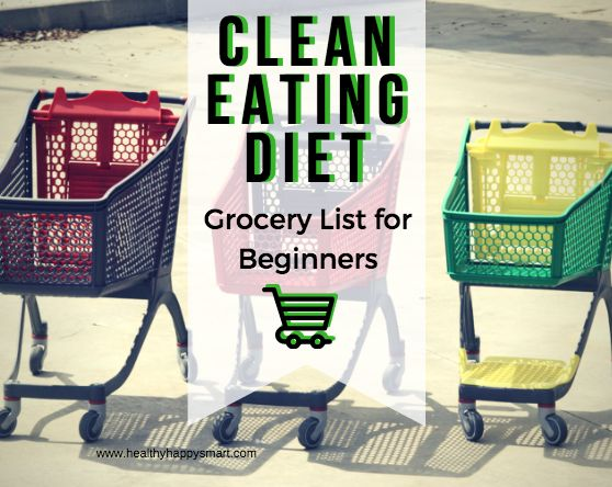 Clean Eating Diet - Clean Eating Grocery List, Clean Eating Food List to guide you in the right direction.