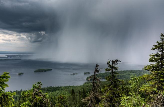 Finland 8.8.2015.Sade iskee Pieliseen,by Marko Kontkanen, Lieksassa Koli.