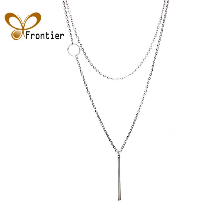 Jewelry Fashion Simple Loops Long Necklace c1176 b4xr