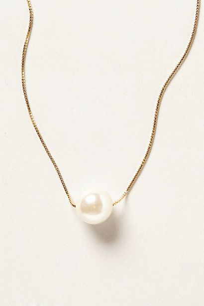 single pearl necklace / anthropologie