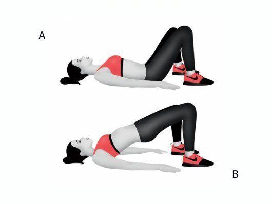 6 упражнений для ног и ягодиц / Будьте здоровы