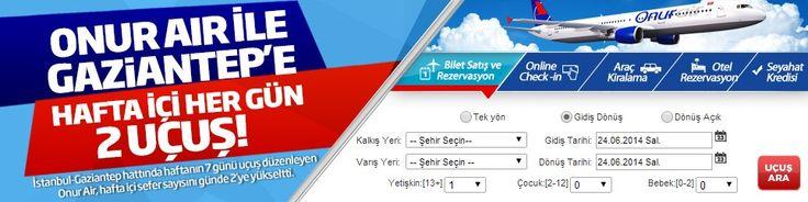 #Ucakbileti #Ucuzucakbileti #Ucakbiletleri - #Gaziantep, #Havayolları, #OnurAir, #YurtiçiUçakBileti - Onur Air ile Gaziantep'e Haftaiçi Her Gün 2 Uçuş - http://www.ucakbiletibul.com/ucuz-ucak-bileti-fiyatlari/yurtici-ucak-bileti/onur-air-ile-gaziantepe-haftaici-her-gun-2-ucus.htm - Onur Air ile Gaziantep'e Haftaiçi Her Mün 2 Eçuş İstanbul, Gaziantep hattında haftanın 7 günü uçuş düzenleyen Onur Air, hafta içi sefer sayısını günde 2′ye yüks