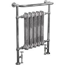Helmsley Traditional 960 x 675mm Heated Towel Radiator - Chrome Medium Image