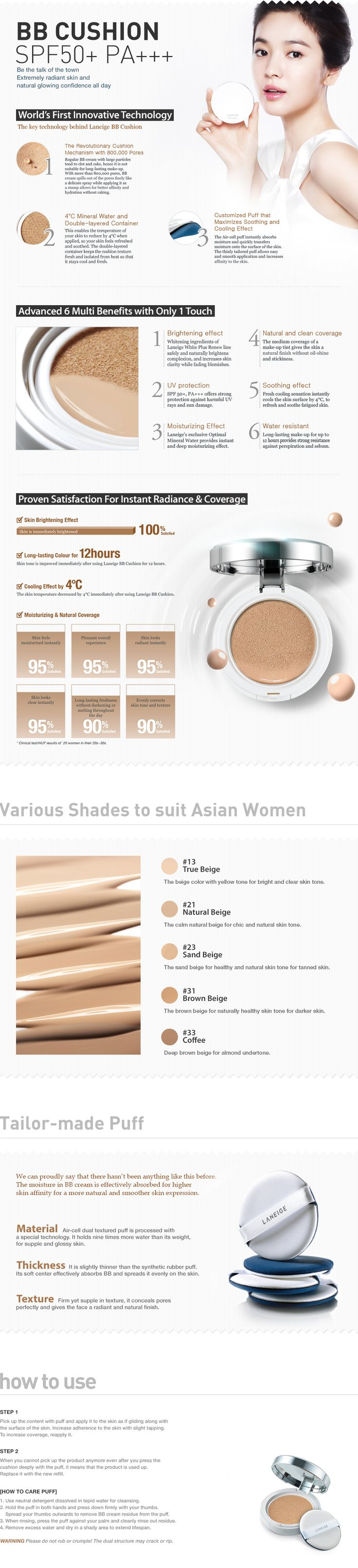 BB CUSHION SPF50+ PA+++ - LANEIGE