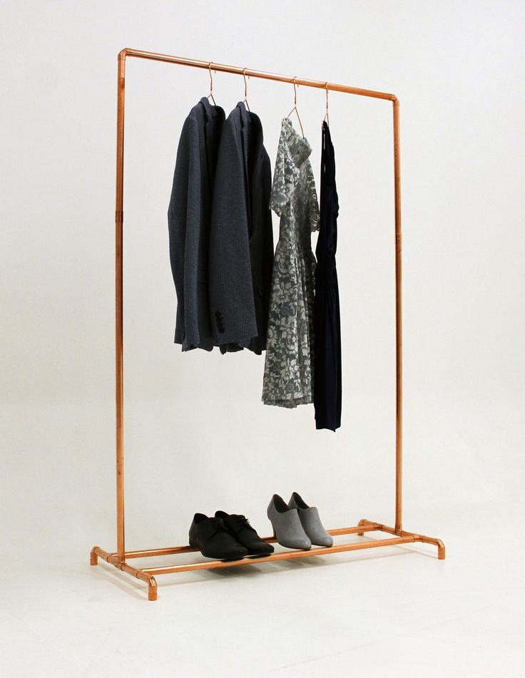 Summer sale! Summer sale! Summer sale!  Elegant and timeless design! Copper is the new gold!  This clothes rack is made to order from industrial copper pipes and fittings. Our all garment racks are handmade and designed in Finland, Europe. All components are copper pipes and copper fittings. This clothes rack is a practical and very cool solution to hold clothes at your home, office or store. The stability is very good.  Over the time copper tarnish beautifully but all of our products are…
