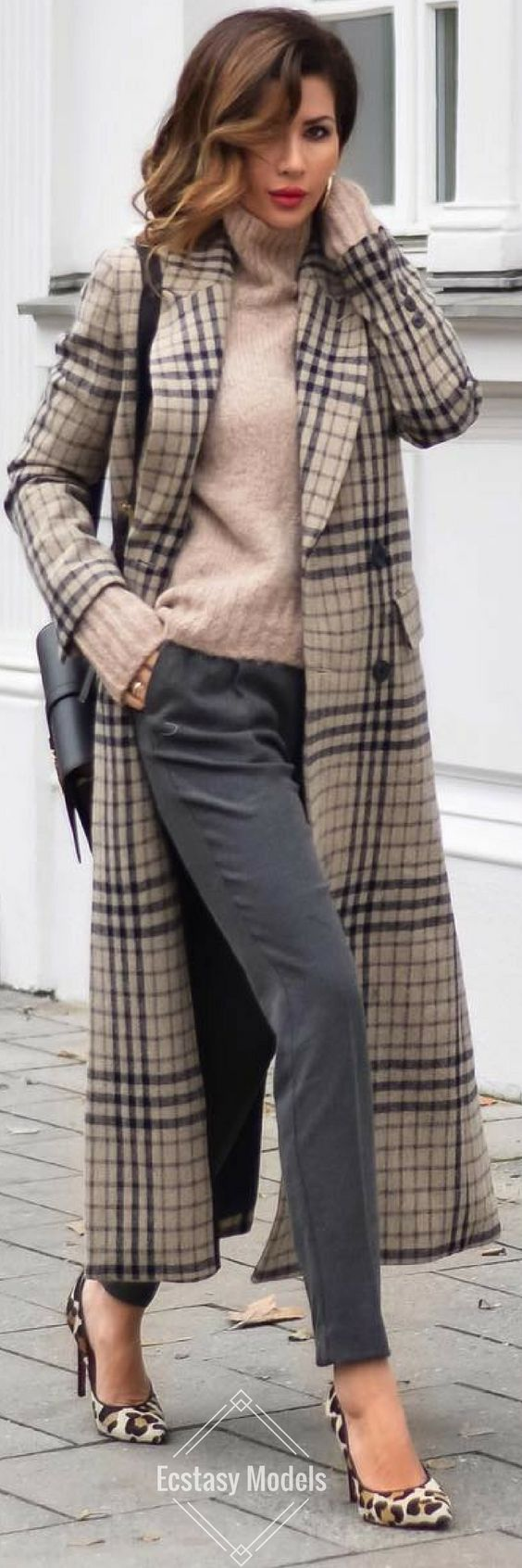 Staying toasty in cool wool // Wool Coat by Mango , ASOS Sweater , Heels by GIANVITO ROSSI , Bag by SAINT LAURENT, Mango Trousers //  Fashion Look by Short Stories & Skirts