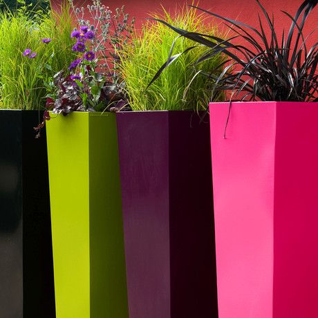 modern planters <3.......love the colors