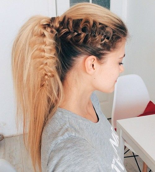 Ponytails Hairstyles a high ponytail trend Braid Ponytail Blonde Hair Hairstyle