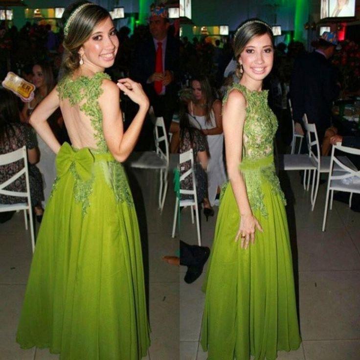 Линия высокая шея кружево длинные зеленые вечернее платье кружева аппликации с бантом спинки сексуальные платья выпускного вечера ну вечеринку платье свадебные платья