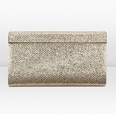Jimmy Choo | Cayla | Glitter Fabric In Hand Clutch Bag | JIMMYCHOO.COM
